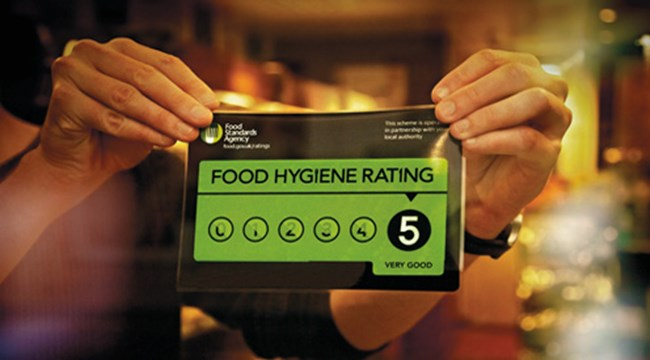 Food Hygiene Rating Scheme '5' sticker