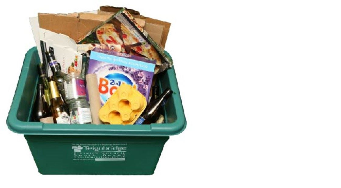 What goes into my bins and boxes? - Green recycling box
