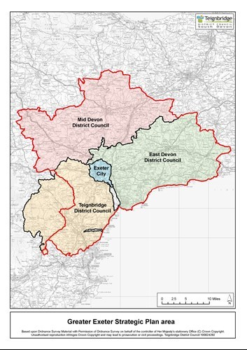 Map Of Uk Exeter.Greater Exeter Strategic Plan 2040 Teignbridge District Council